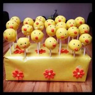 Cake pop poussins de Pâques