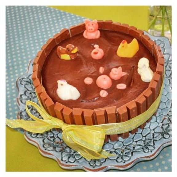 Gâteau mare aux cochons au chocolat