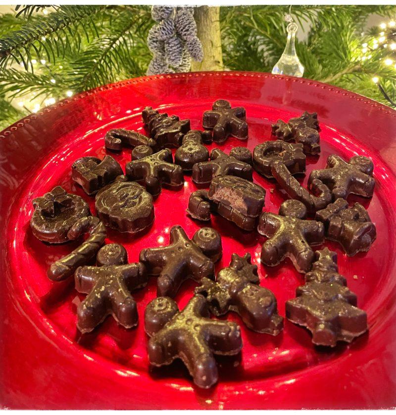 Assiette de chocolats de Noël