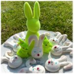 Mini fraisier de Pâques rigolo en forme de lapin