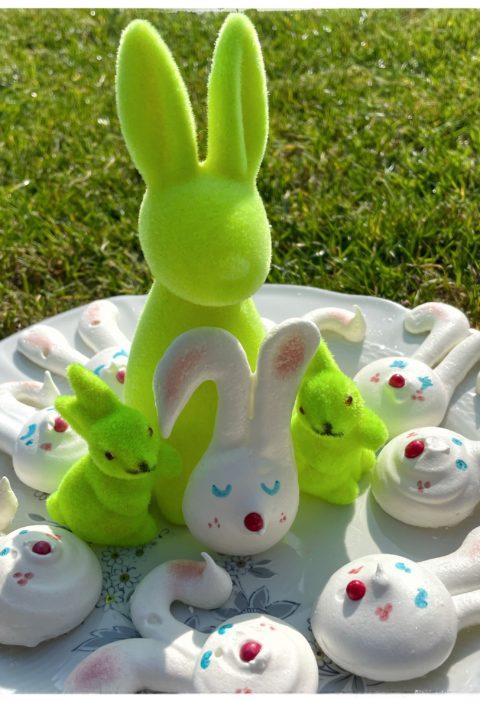 Meringues de Pâques au jardin