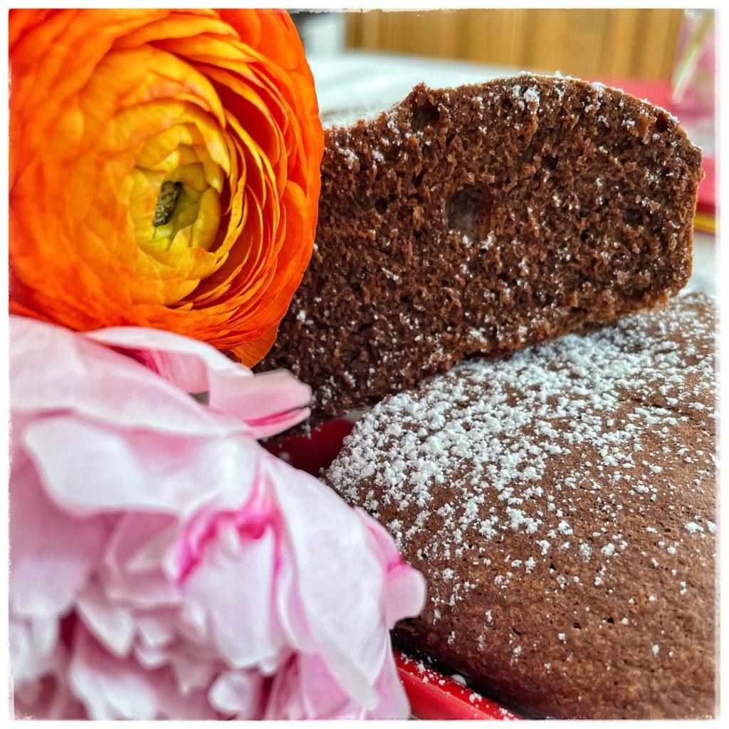 Gâteau chocolat anémone et pivoine