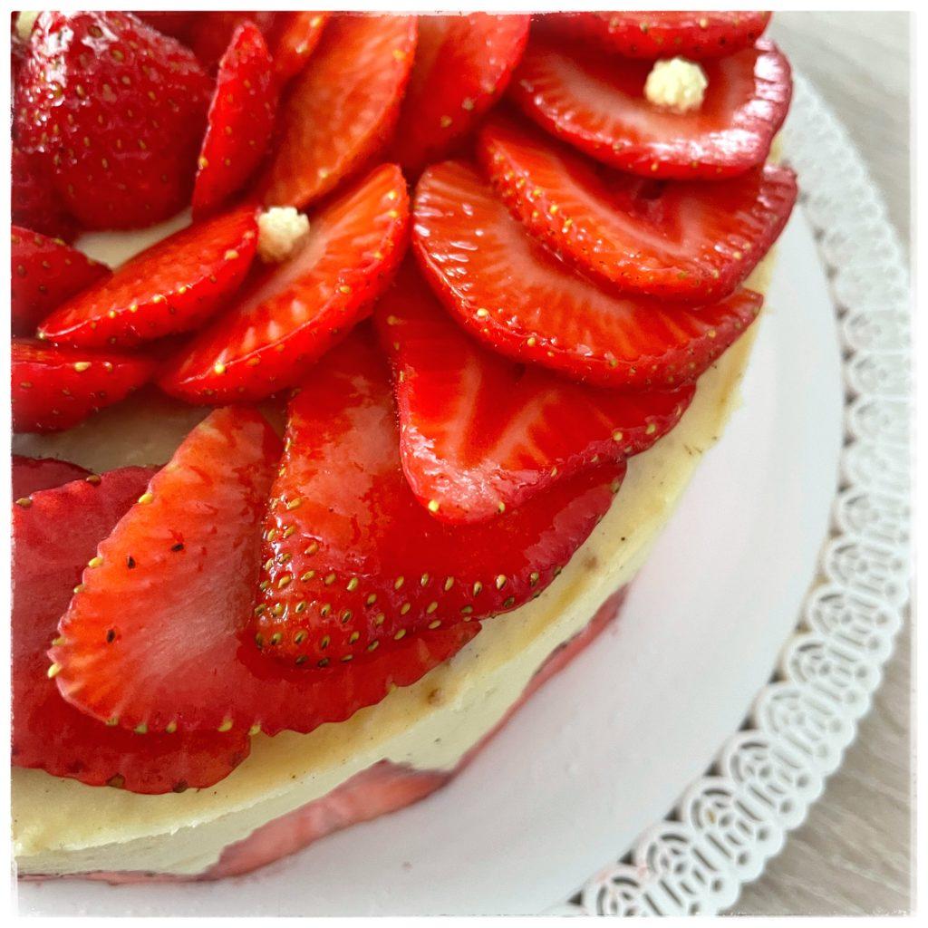 Zoom fraises du fraisier